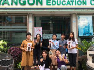 YANGON Education Centerで日本語を学ぶ学生とミャンマー人の嗜好に合うコーヒーを共同企画。イベントで提供する。
