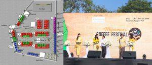 AUNG COFFEEはD-21メインステージの目の前ですが、音楽がうるさかった、。
